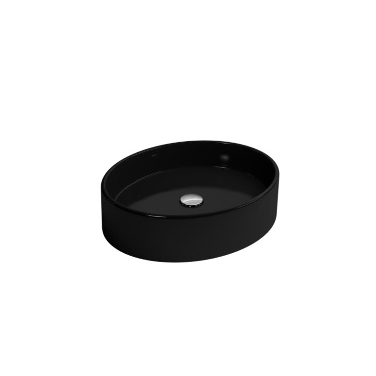 Cuba de Louca de Apoio Oval 50x41 cm Ebano L9395 - Deca