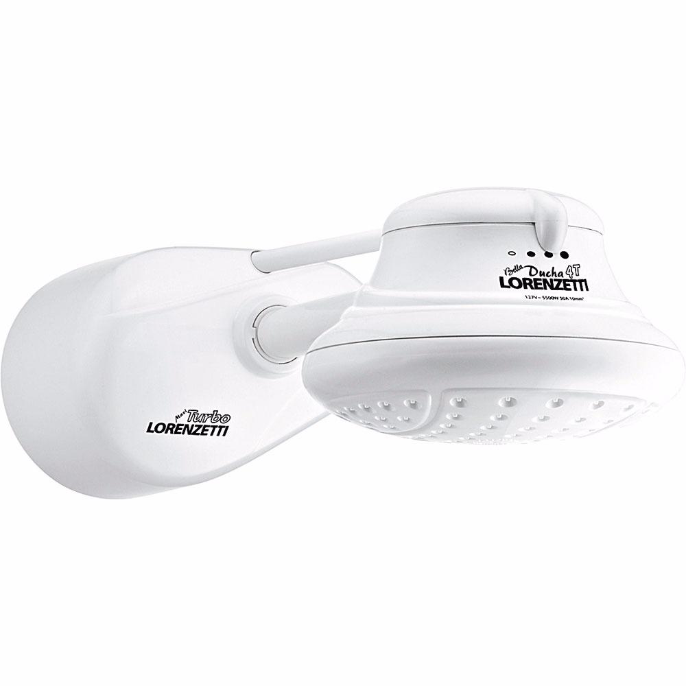 Chuveiro 4 Temperaturas Pressurizador 6800W 220V Branco - Bella Lorenzetti