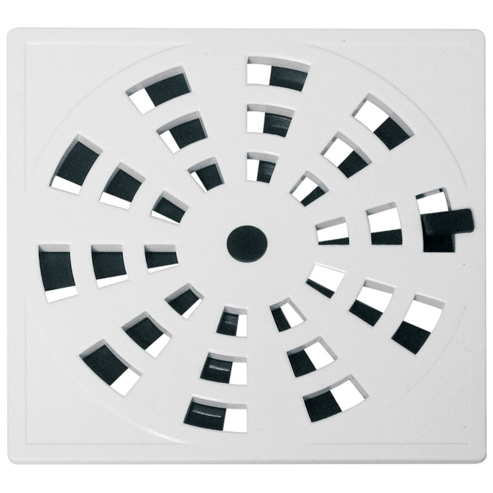 Grelha de Plastico Quadrada para Esgoto Giratoria Branca GRB5 - Astra