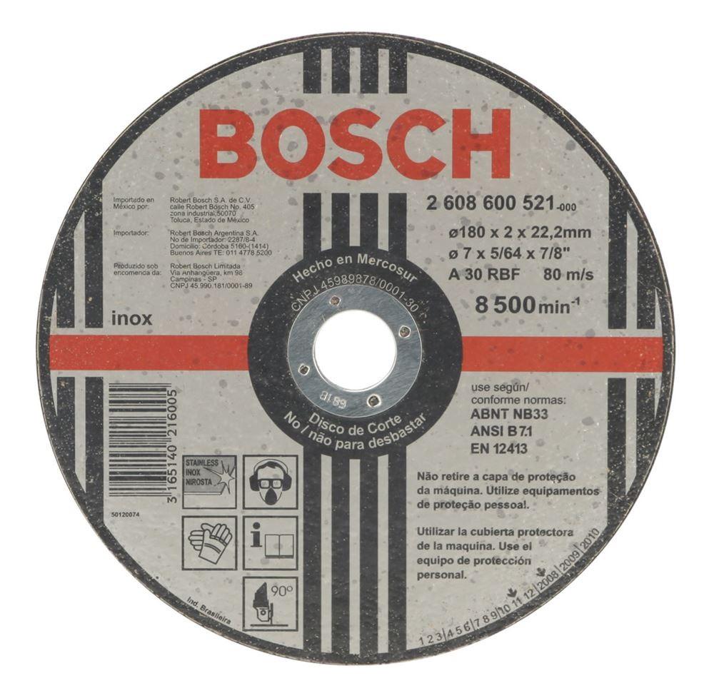 Disco de Corte 180x2x222 mm A30 - Bosch