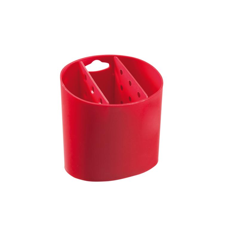 Escorredor de Talheres de Plastico Vermelho 108400053 - Coza