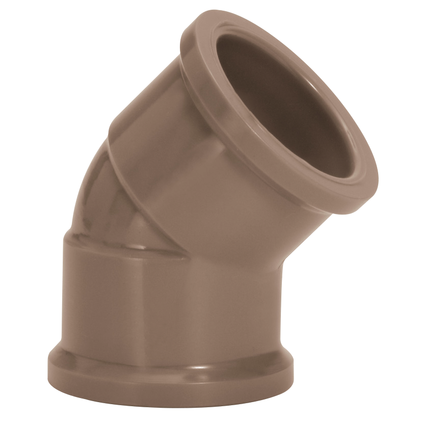 Joelho 45 Soldavel PVC Marrom 40 mm - Amanco