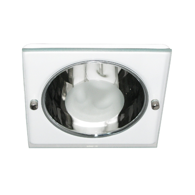 Spot Embutir Aluminio E27 Quadrado Branco 4086 - Goli