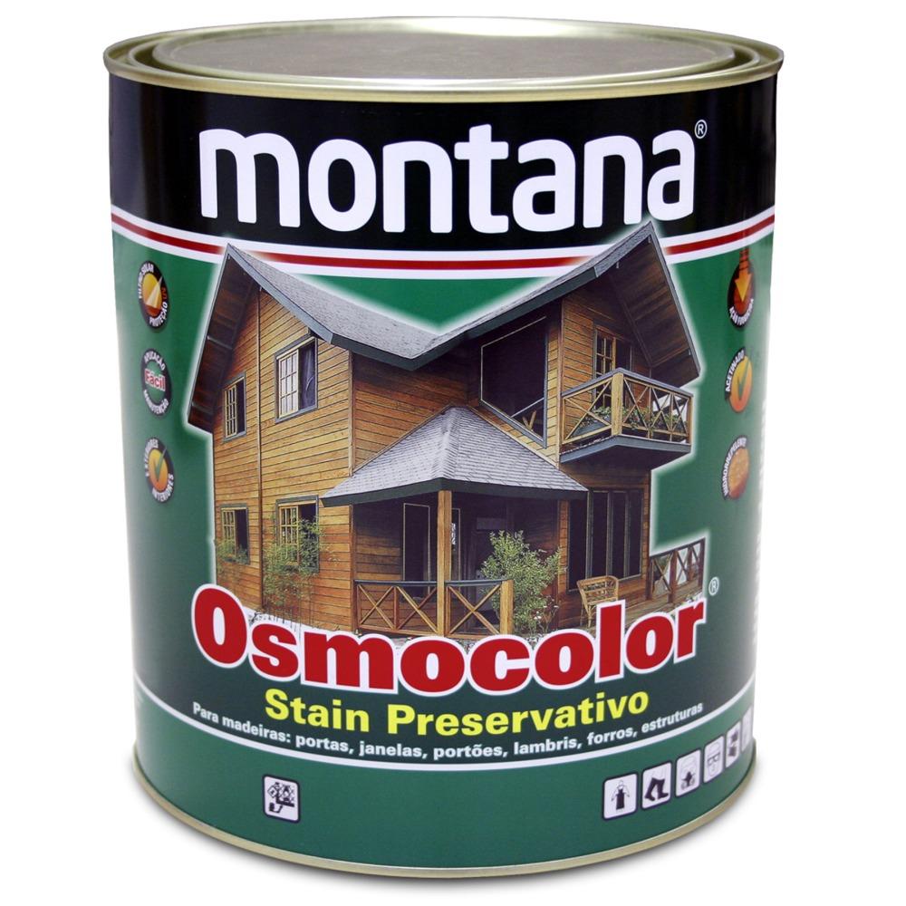 Stain Osmocolor Cores Semitransparentes Acetinado - Mogno - 0900L - Montana