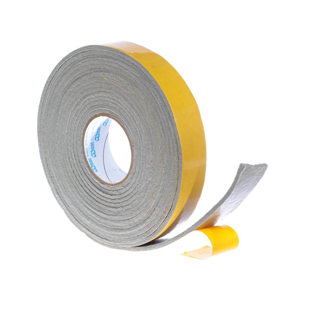 Protetor anti-risco de Feltro Adesivo Rolo Cinza 25x3x5000 mm - Engedom