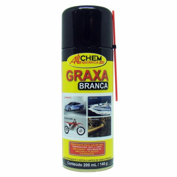 Graxa Litio Branca Spray 200ml - Allchem Quimica