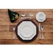 Aparelho de Jantar de Porcelana 20 Peças Prisma Branco - Schmidt