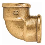 "Cotovelo 90° Bronze Roscável 1/2"" - Eluma"