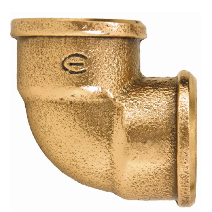Cotovelo 90 Bronze Roscavel 34 - Eluma