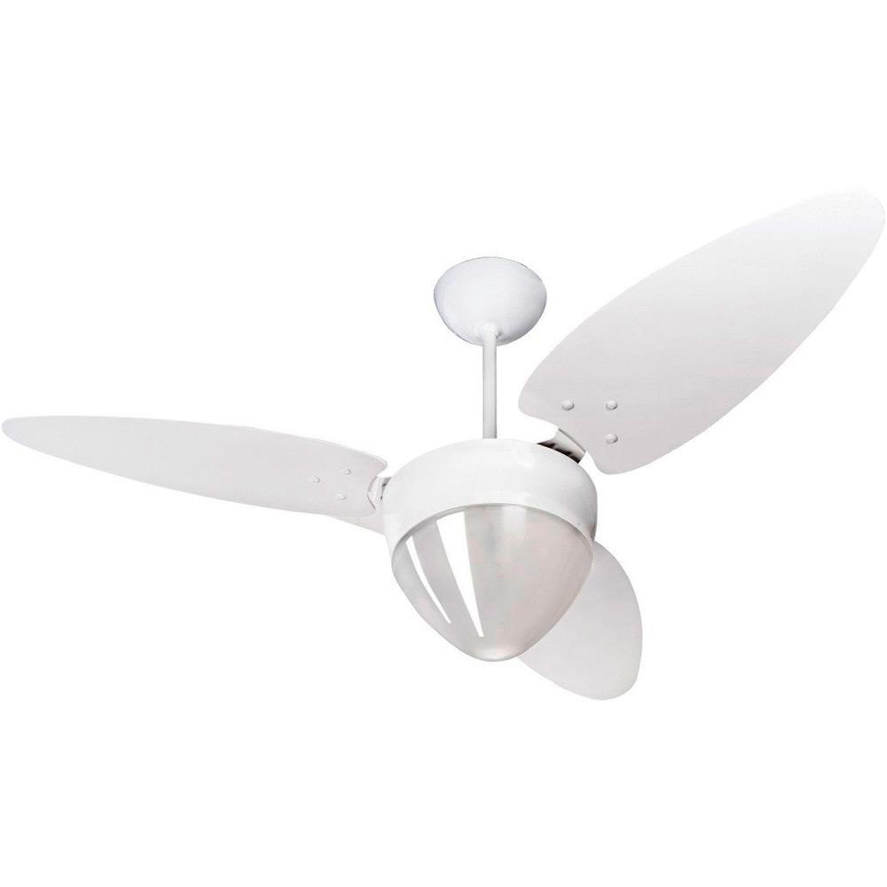 Ventilador de Teto Ventisol 3 Pas Aires 175 Branco 127V - 2 Lampadas 3 Velocidades