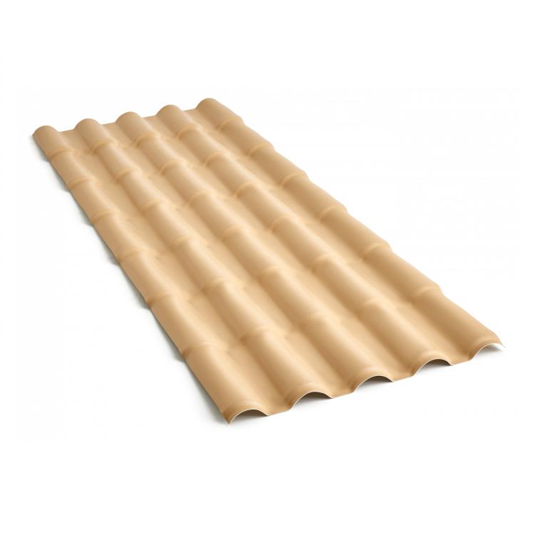 Telha de PVC Colonial 2mm 86x230cm Marfim - Precon