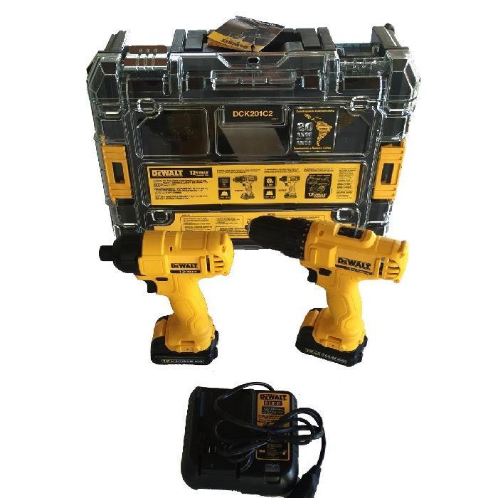 Kit FuradeiraParafusadeira e Chave De Impacto DCK201C2-BR - 127V - DeWalt