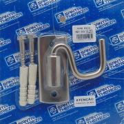 Gancho para Rede de Sobrepor 225Kg Aço Inox Polido 1 Unidade - 609 - Santa Thereza