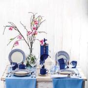 Aparelho de Jantar de Cerâmica 20 Peças Azul Donna 5108 - Biona