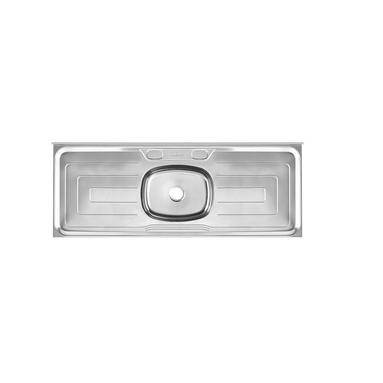 Pia Simples de Aco Inox Brilho 53cm x 120cm Prata 14622 - Franke