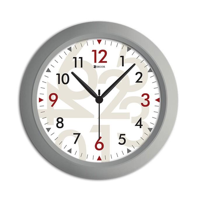 5c531b70741 Ferreira Costa - Relógio de Parede Office Modern 30 cm Prata 947 ...