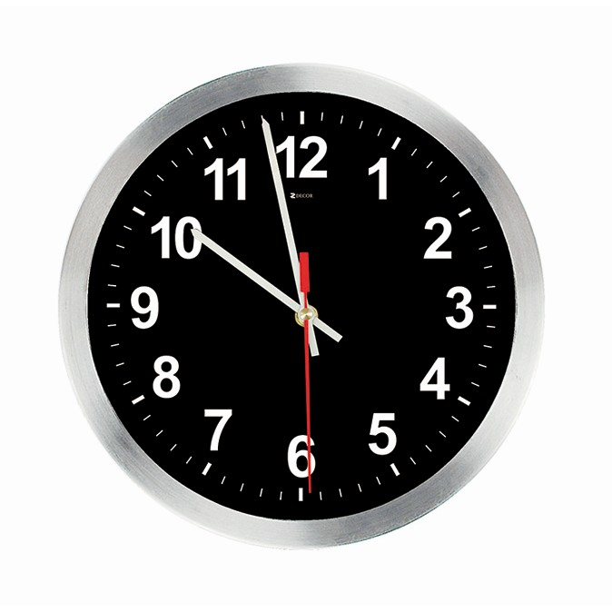6a3c27c17ed Ferreira Costa - Relógio de Parede Work Alumínio 30 cm Preto 1021 ...