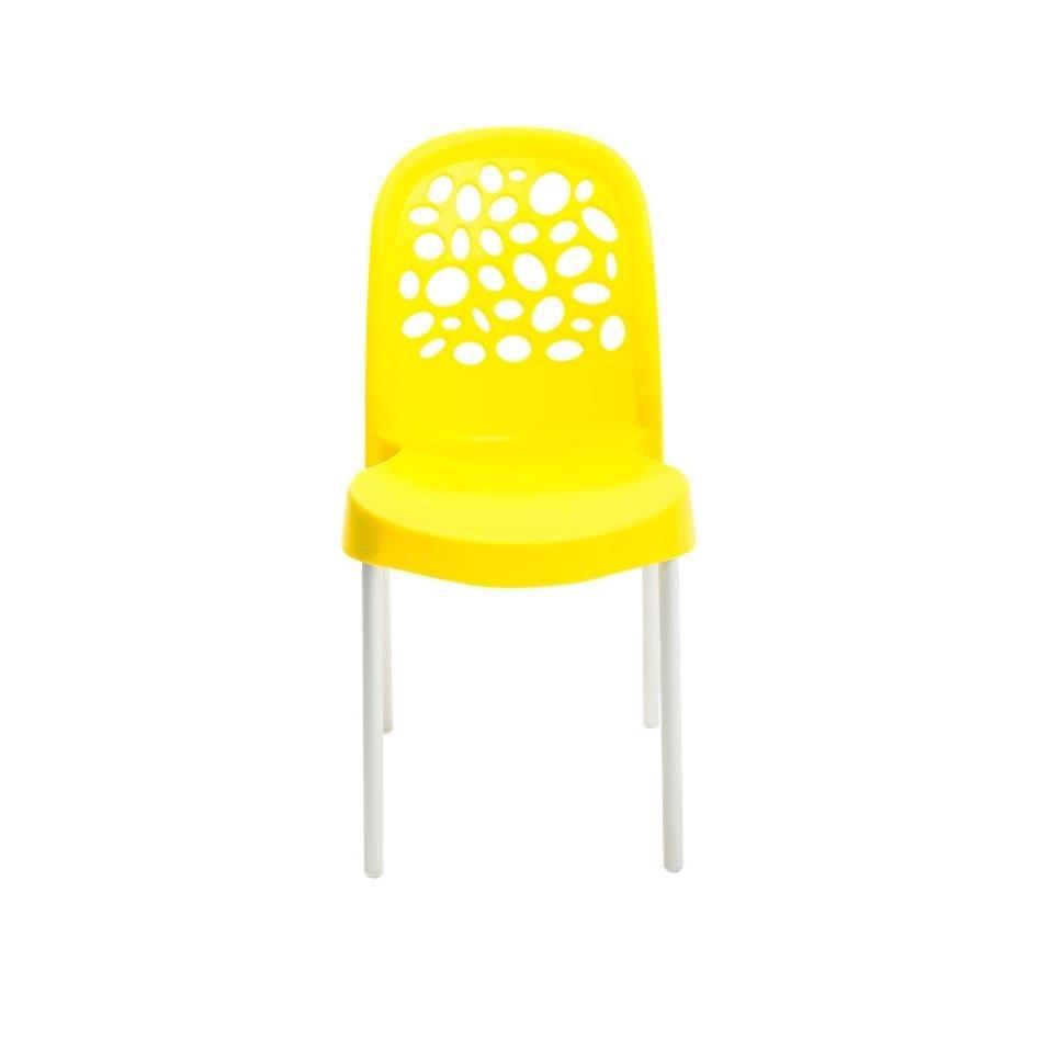 Cadeira Deluxe de Polipropileno Amarela - Forte Plastico