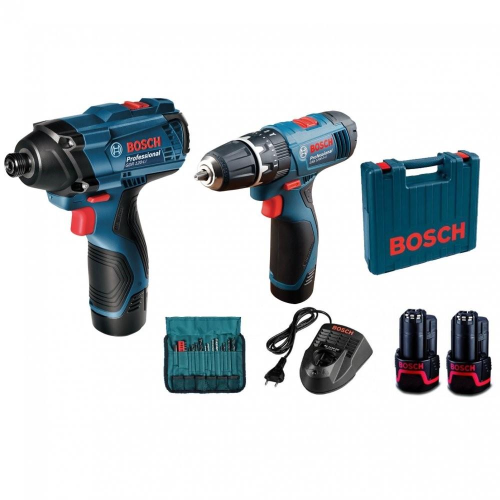 Kit FuradeiraParafusadeira e Chave de Impacto GDRGSB 120 LI - Bosch