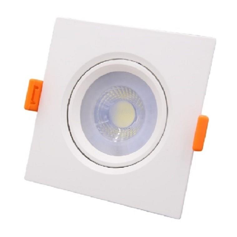 Spot LED de Embutir Plastico Quadrado 50w Branca - Ecoline
