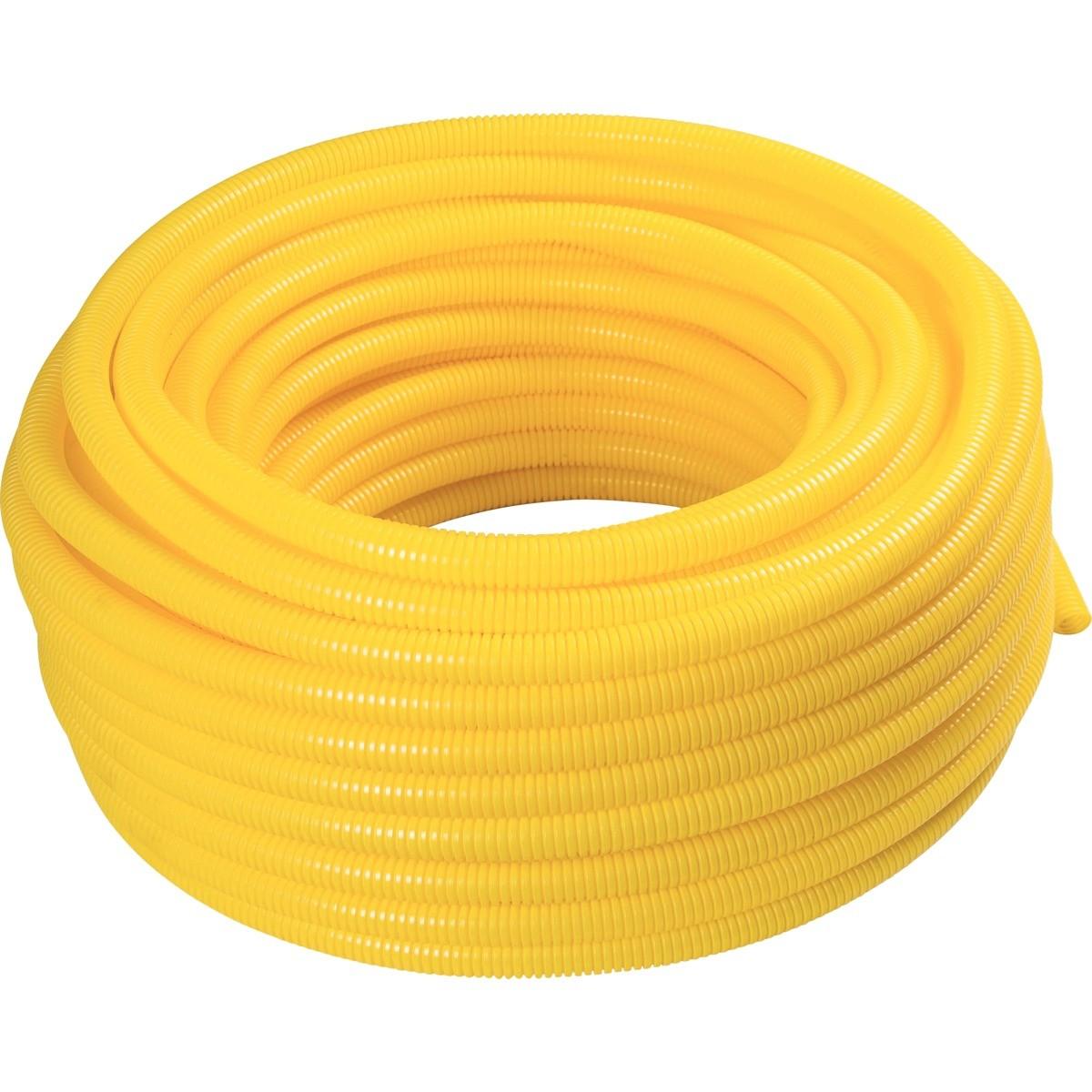 Eletroduto Flexivel Corrugado PVC DN 25 mm 34 x 50m Amarelo - Tramontina