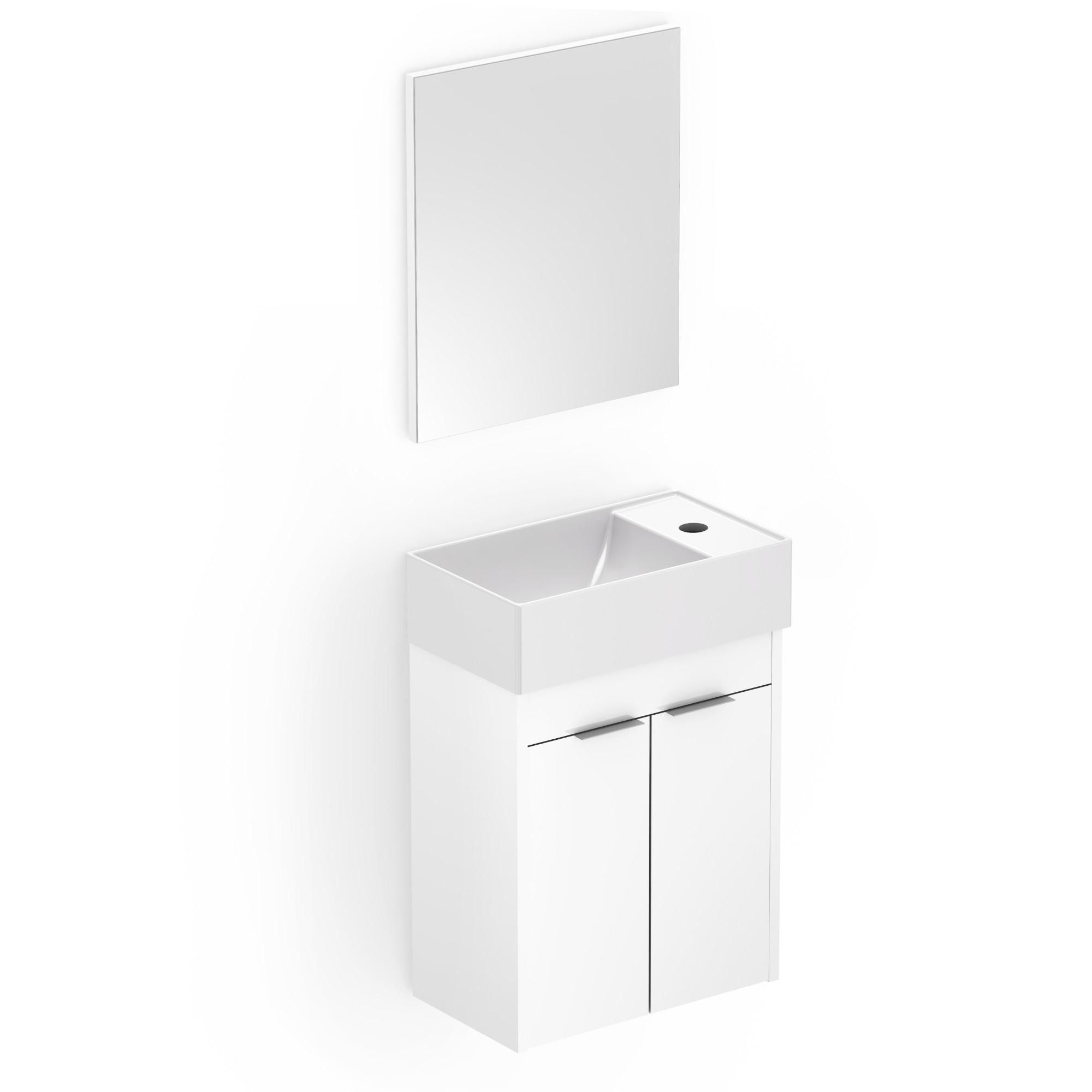 Gabinete para Banheiro com 2 Prateleiras 40x22cm Branco B60000 - Roca