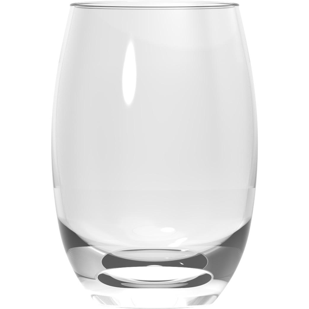 Jogo de Copos de Agua Long Drink De Vidro 450ml 6 Pecas Transparente - Nadir