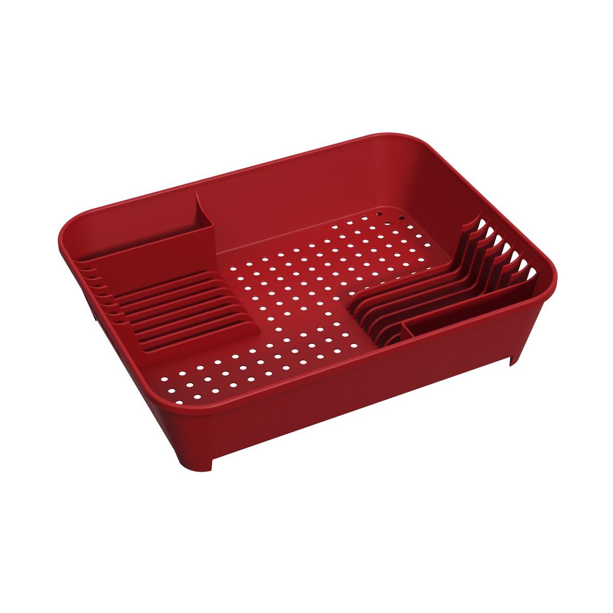 Escorredor de Loucas Plastico - Vermelho Bold 10848 - Coza