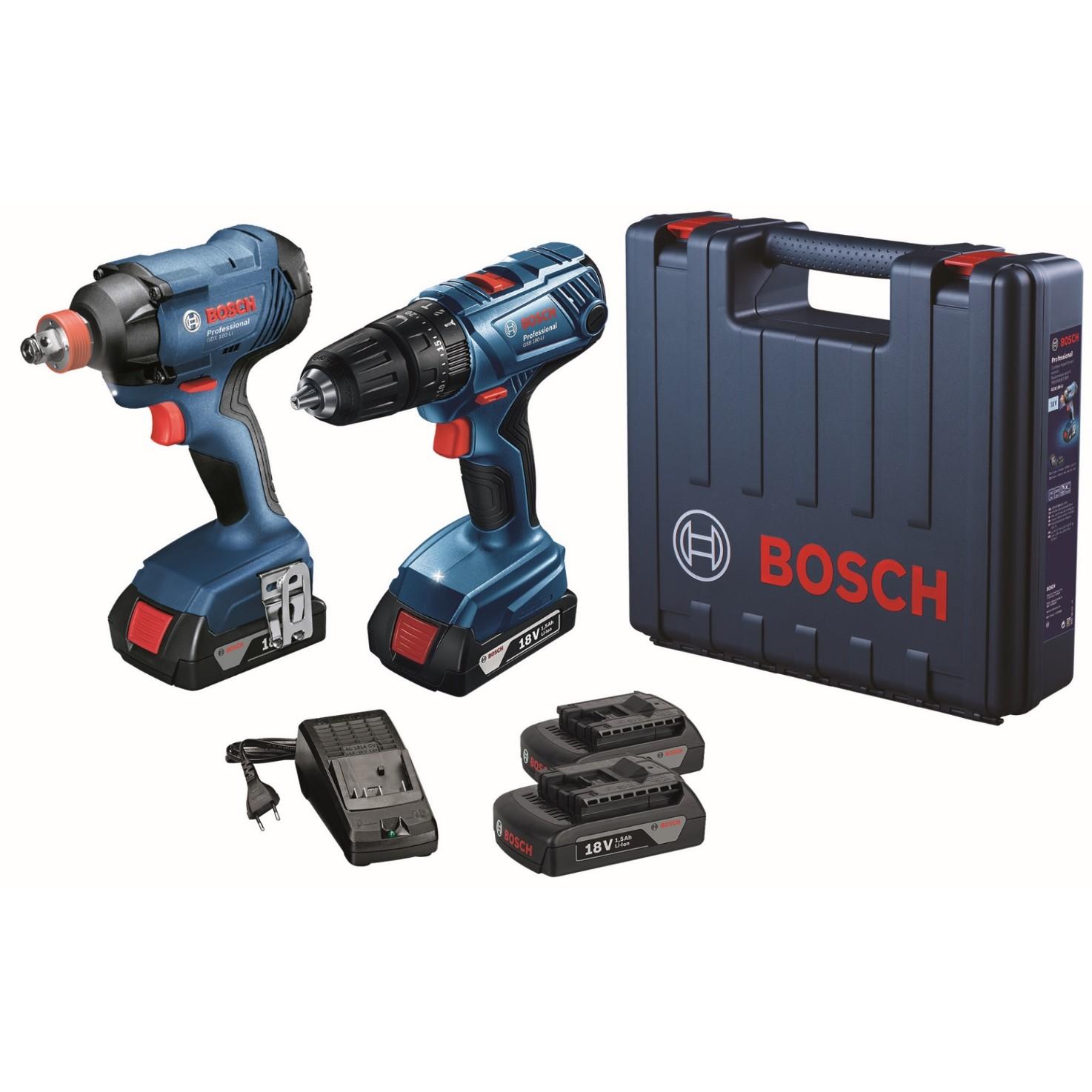 Kit Furadeiraparafusadeira e Chave De Impacto 06019G52E2-000 - Bosch