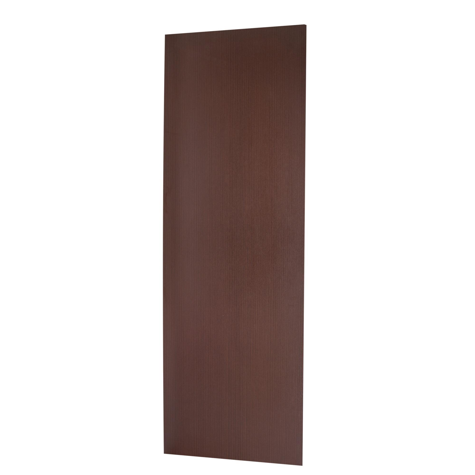 Porta de Madeira de Abrir Lisa Semissolido 60 x 210cm Pinus - Marrom escuro - Madelar