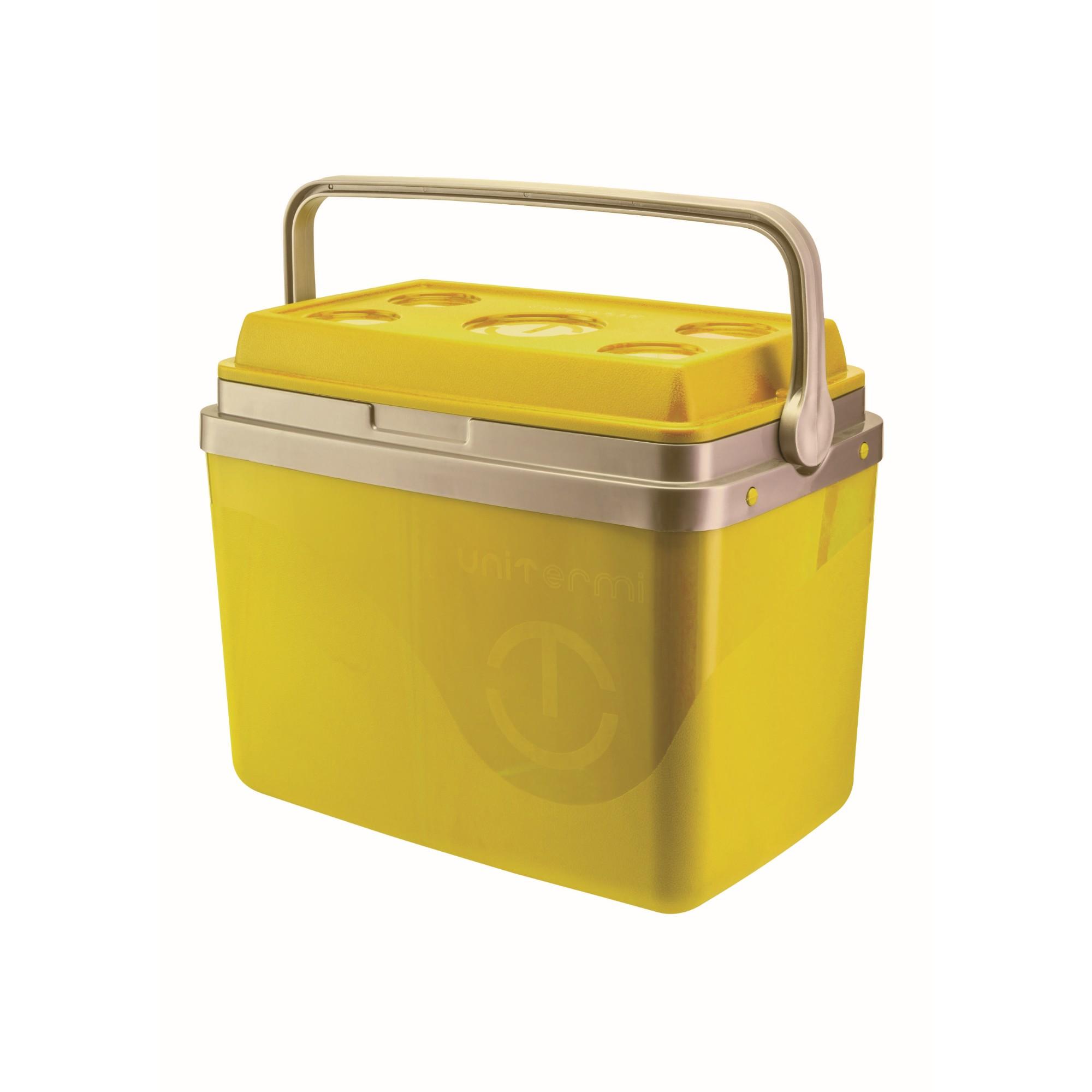 Caixa Termica Plastico 32L Amarela 71105 - Unitermi