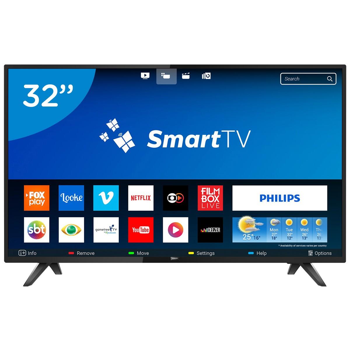 Smart TV LED 32 Philips TV HD 32PHG581378 - Wi-Fi 2 HDMI 2 USB