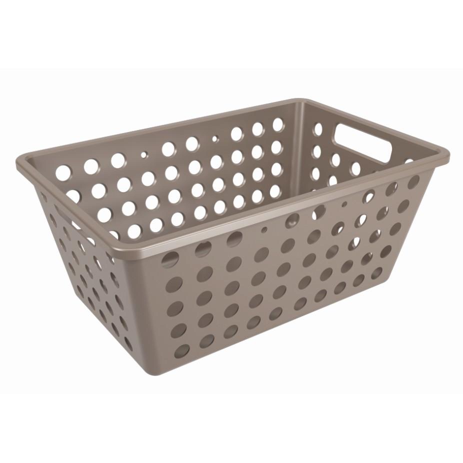 Cesta Organizadora de Plastico 28x19cm Warm Gray - Coza