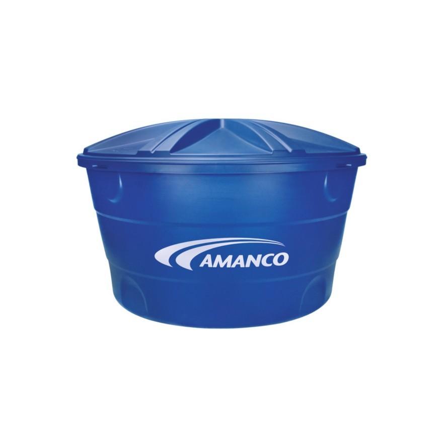 Caixa Dagua de Polietileno com Tampa 1000L Azul - Amanco