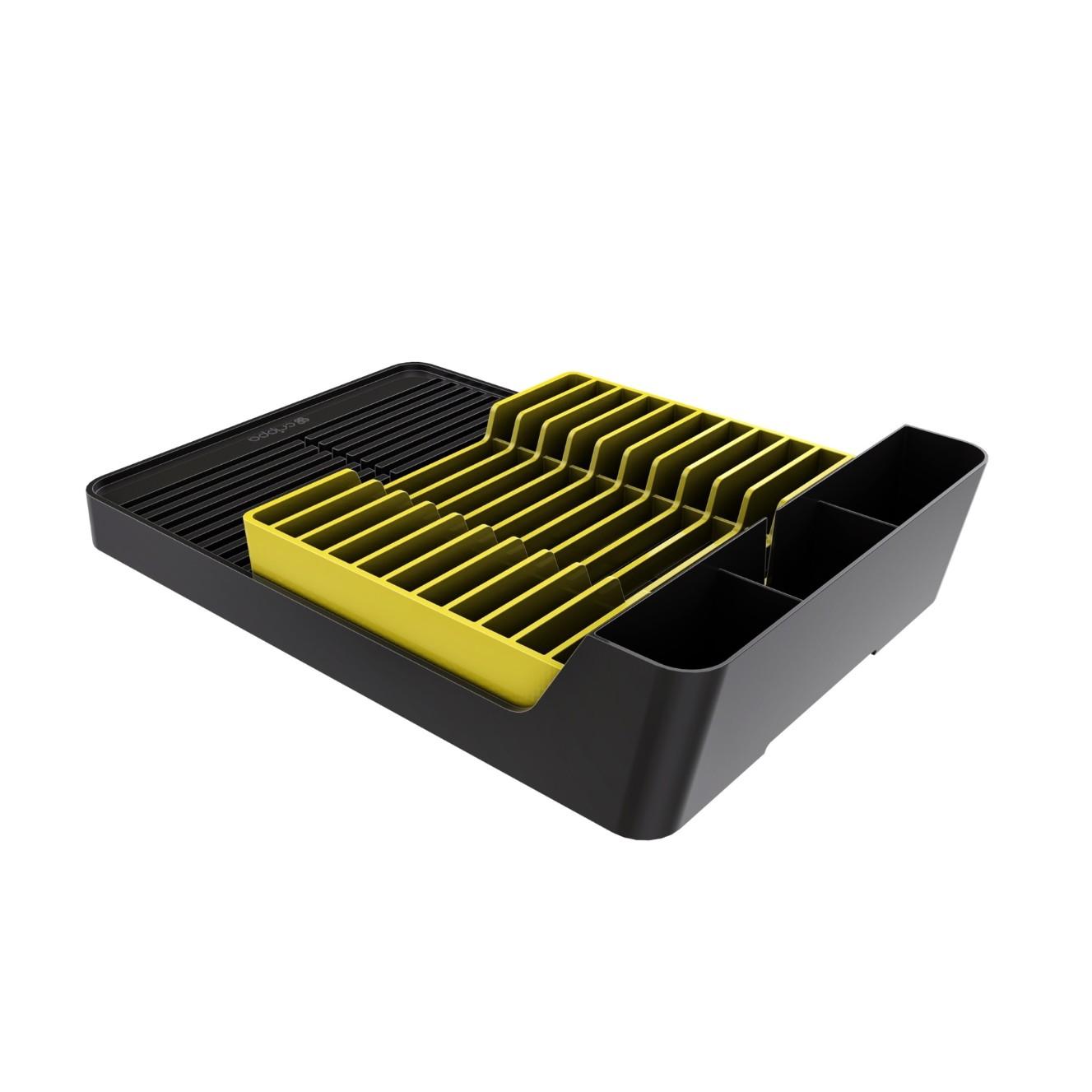 Escorredor de Pratos 11 Pratos Amarelo - Crippa