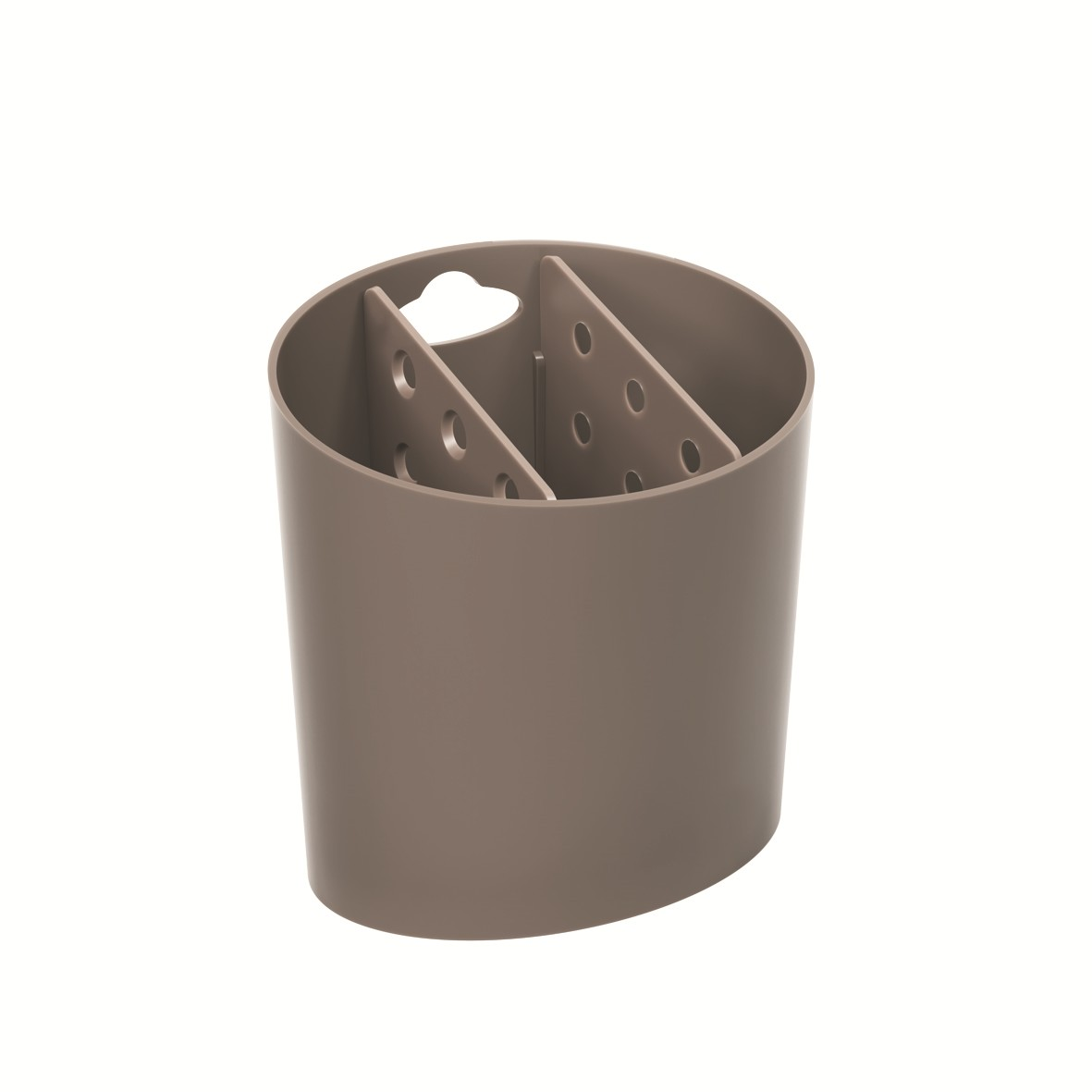 Escorredor de Talheres de Plastico Oval Warm Gray - Coza