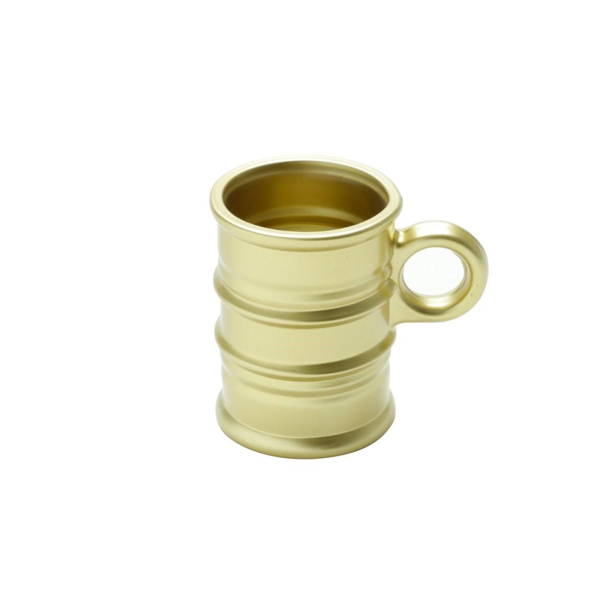 Caneca de Vidro Vintage 6 Pecas 95ml Dourada 7165 - Coliseu