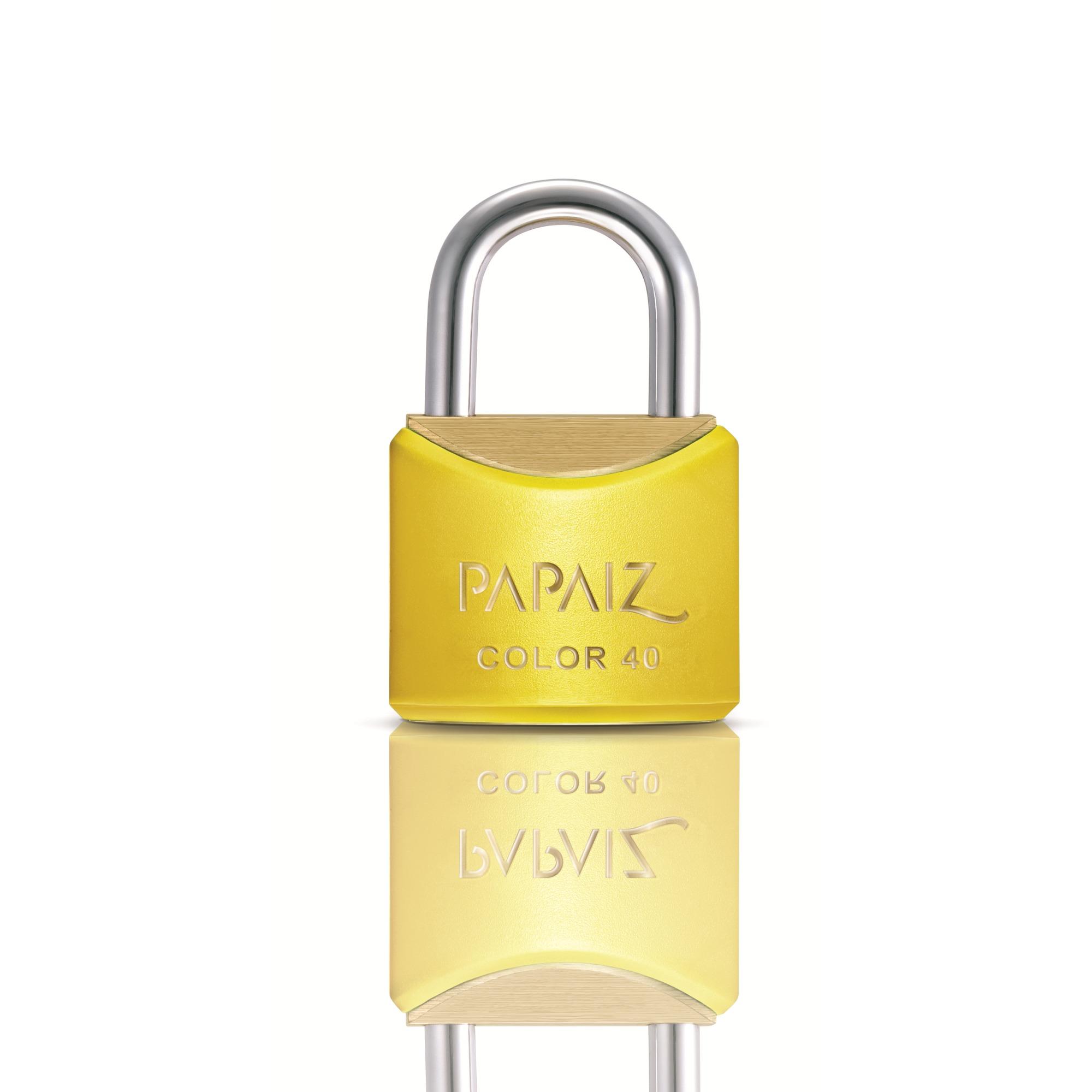 Cadeado Latao 40 mm Amarelo - 1 Unidade - Color Papaiz