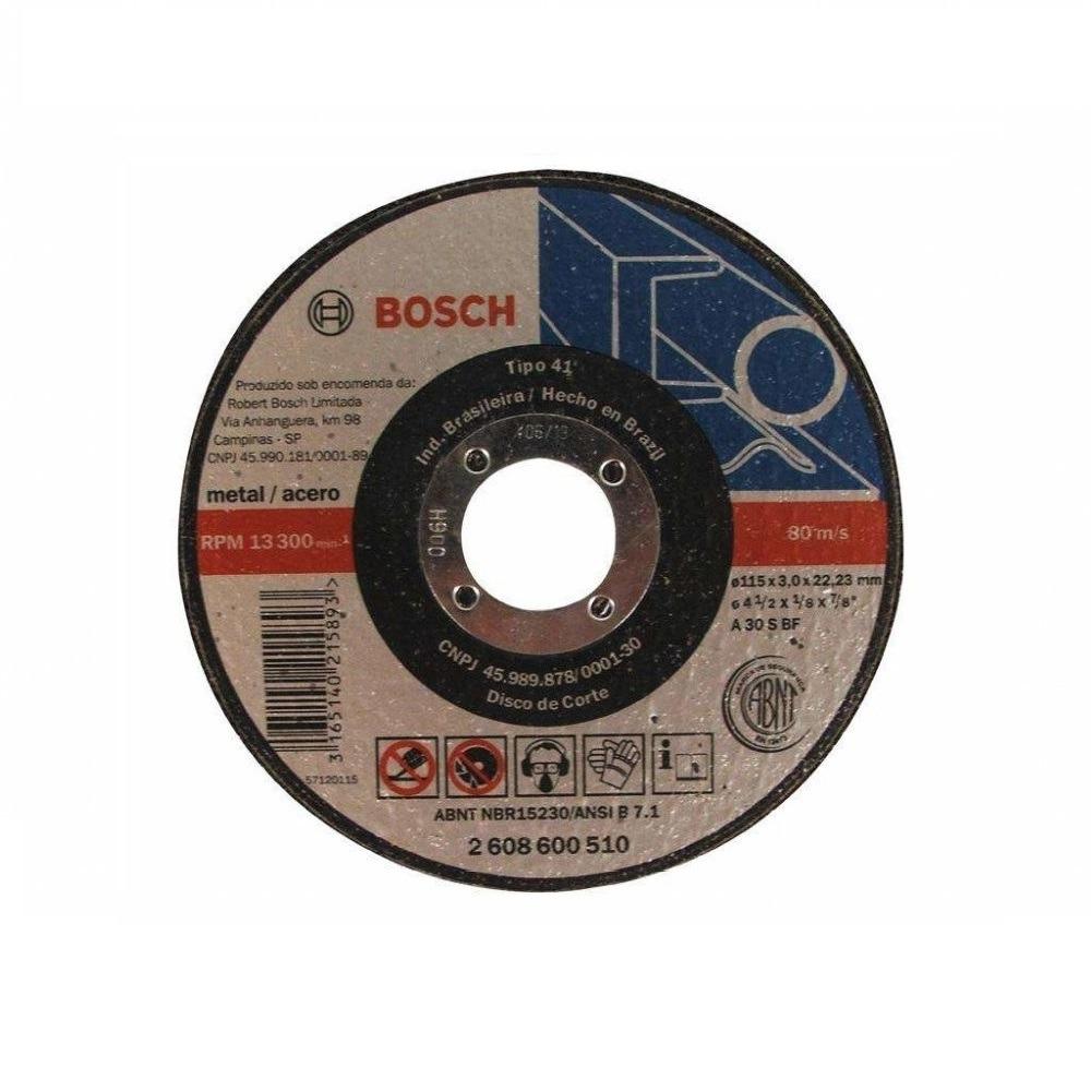 Disco de Corte Aco 115x3x2223mm A30 2608600510 - Bosch