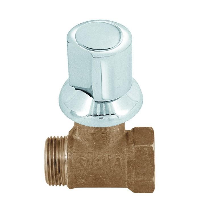 Registro de Pressao Liga de cobre para Chuveiro Cromado Cruzeta 1905mm 34 - Sigma