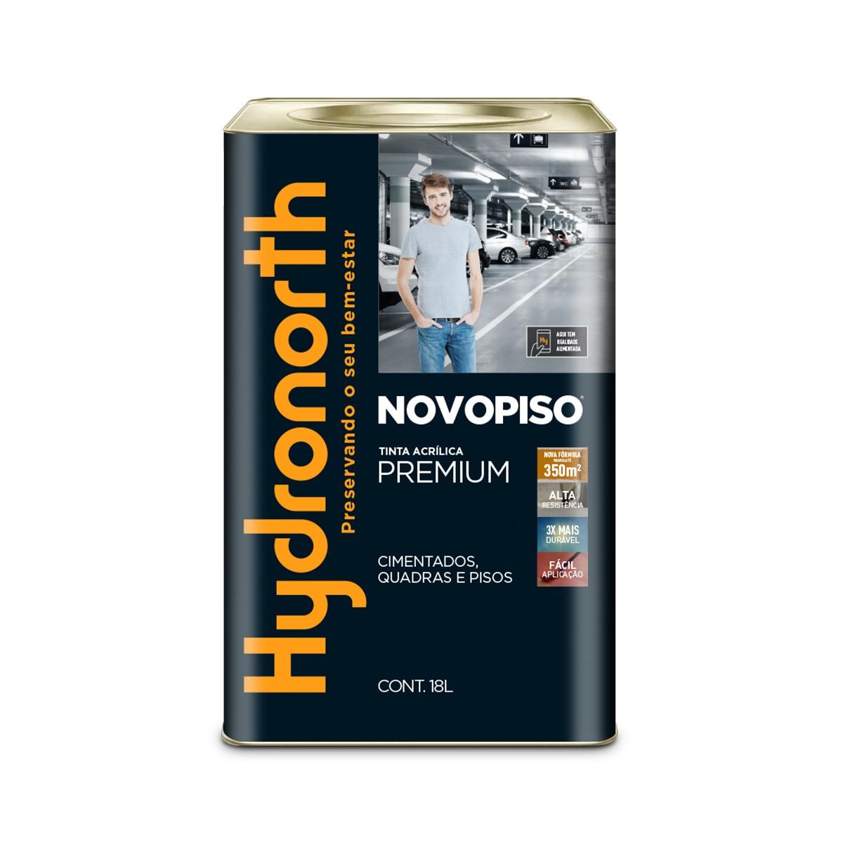 Tinta Acrilica Fosco Premium 18L - Amarelo Demarcacao - Novopiso Hydronorth